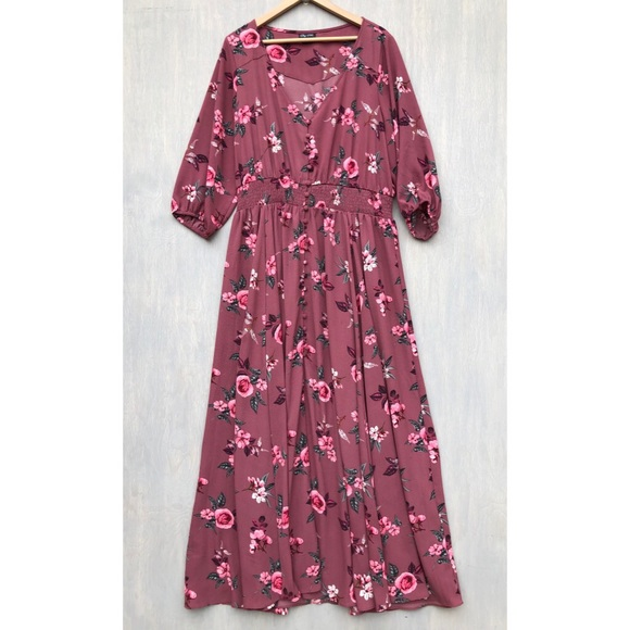 City Chic Dresses & Skirts - City Chic floral button down boho maxi dress 20